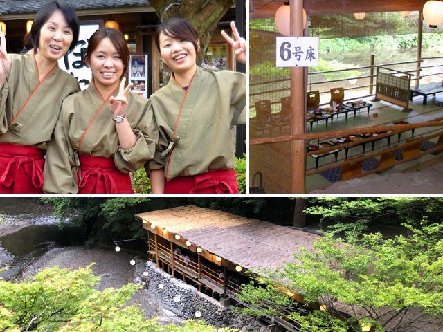 川床は京都らしさを満喫できる職場です。