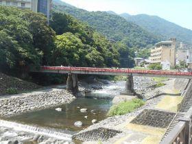 川沿いは憩いのスペースになるのも箱根湯本ならでは♪ゆっくり川沿いで読書なんかもいいですよね