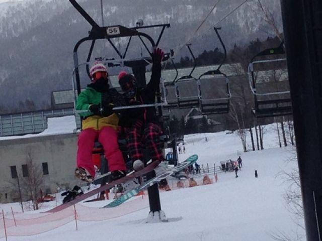 スキー場はすぐ近くです!!