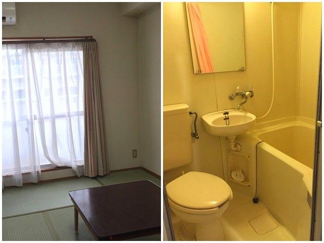 ≪寮:内観≫室内には嬉しい風呂・トイレ付です♪
