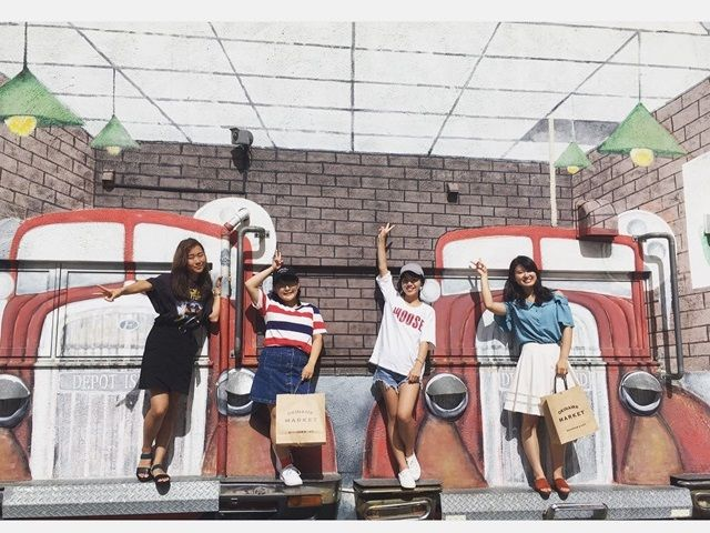 〔近くの観光地〕アメリカンヴィレッジ♪日本じゃない風景。インスタ映えも間違いなし。