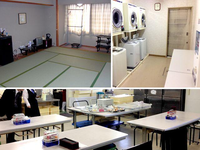 館内寮でWifi可能、大浴場も入れます。 仕事が終わっても楽しい時間を過ごせますよ。