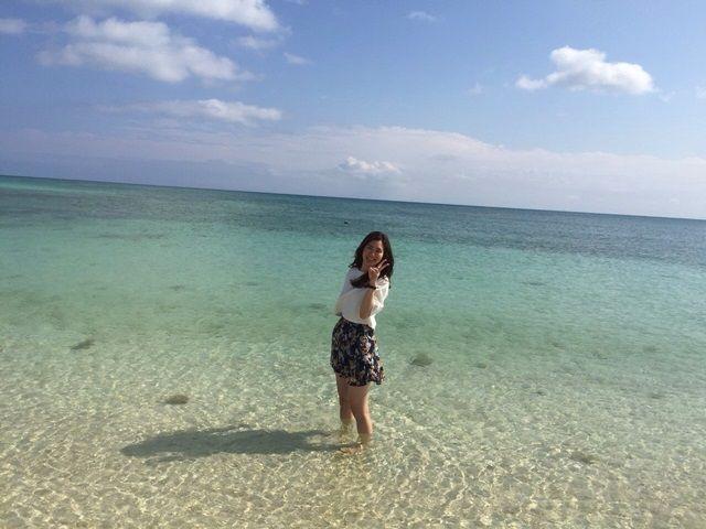 沖縄の定番「海」!! 夏でも、冬でも沖縄の海は綺麗です。