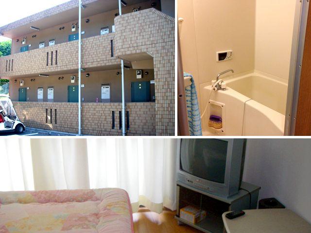 寮は個室で風呂・トイレ付ですよ。