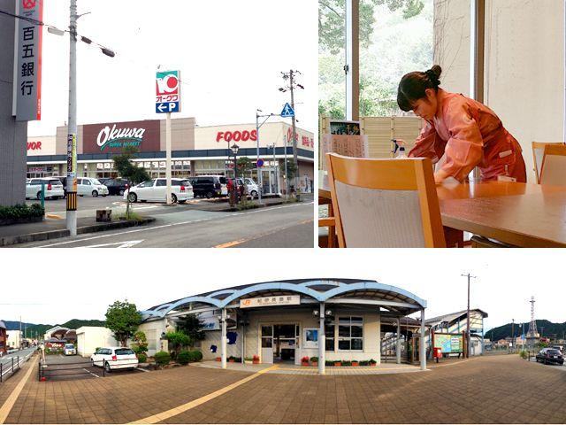 駅から徒歩圏内に銀行、スーパーもございます。