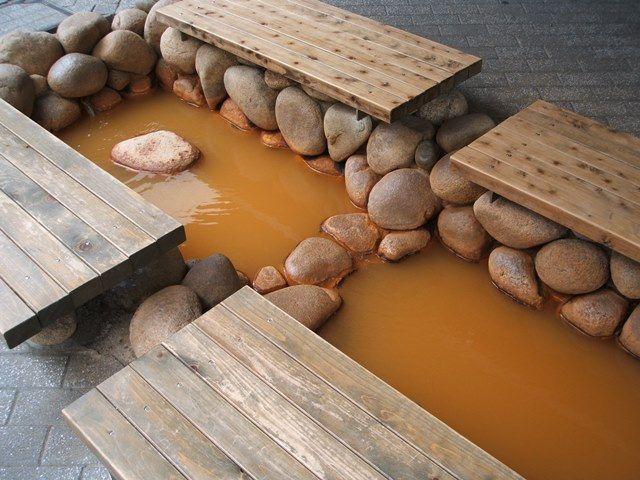 有馬の温泉の足湯です♪