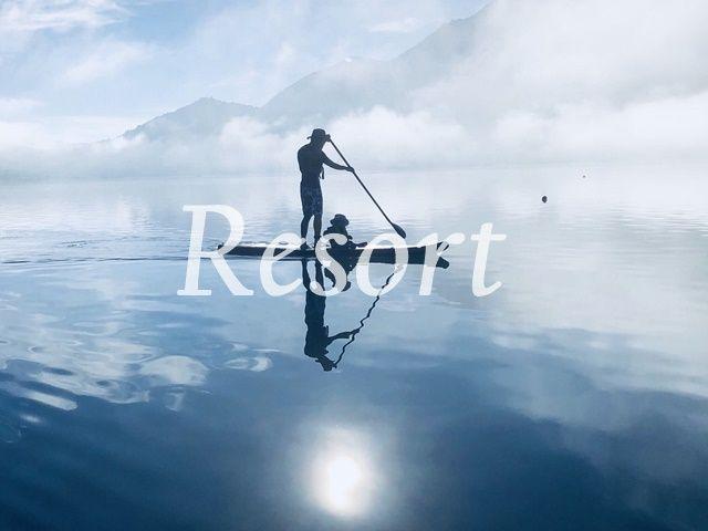 湖に移る富士山、絶景の中でリゾートバイトをしませんか?