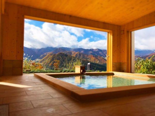 新設の温泉棟は勿論入浴可☆眼前に広がる自然の雄大さはここでしか味わえない絶景です♪