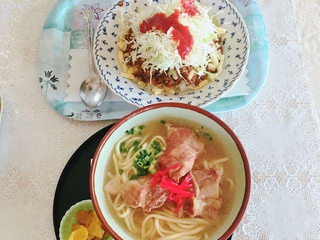 沖縄ソバ派orタコライス派?沖縄のソウルフードですが、お店によっても味が異なり楽しめます。