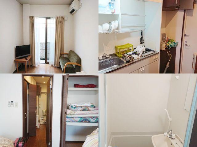 寮室内写真(マンションタイプの寮とアパートタイプの寮。複数あります)