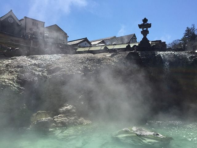 ☆草津の中心地、『湯畑』です。近くには足湯もあるので是非温まってみて下さい☆