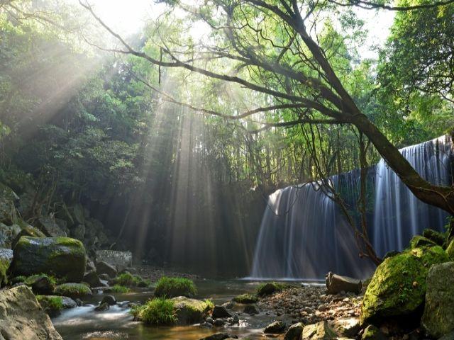 休日は周辺の観光地へお出かけ☆CMのロケ地でよく使われる有名な滝ですよ!