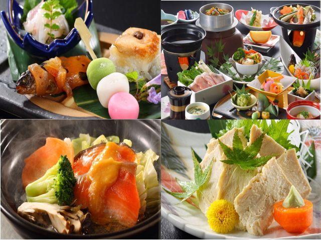 味はもちろん!彩も華やかな和食懐石です。見ているだけでも楽しいですよ(*^_^*)