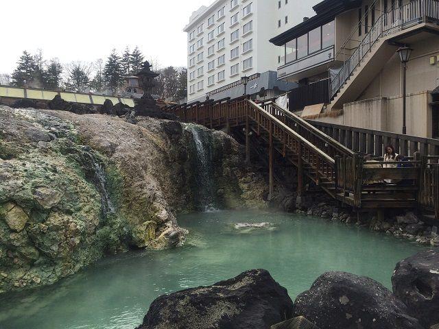 草津の町の中心地「湯畑」です!