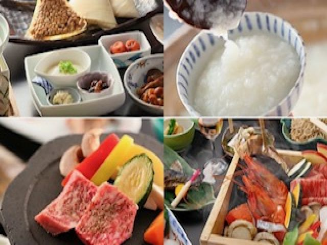 お料理も絶品!名物はお米を温泉水でグツグツ炊く温泉粥♪まかないも楽しみですね♪