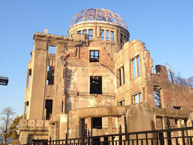 世界遺産【原爆ドーム】平和記念公園、資料館など平和の大切さを改めて認識します。