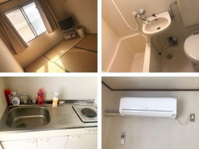 寮は嬉しい風呂・トイレ・キッチン付き☆職場も目の前にありますの通勤も楽です。館内温泉もOK