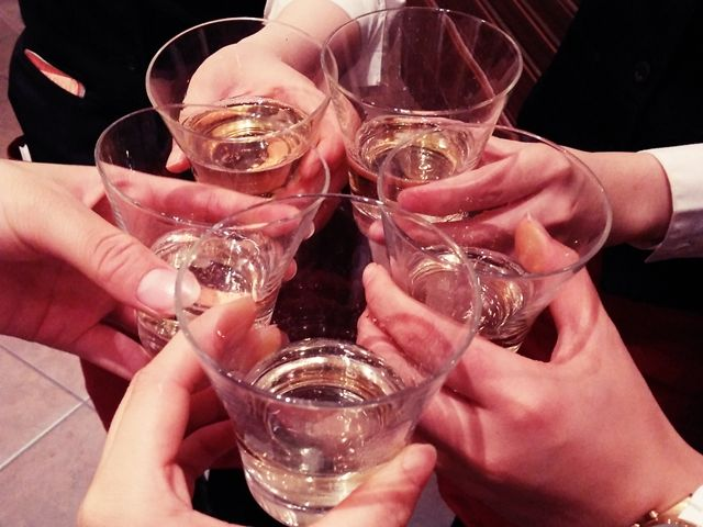 仕事終わりの乾杯♪