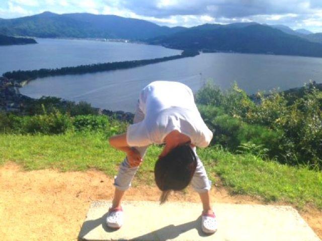 日本三景、天橋立では股のぞきがお約束(^O^)♪