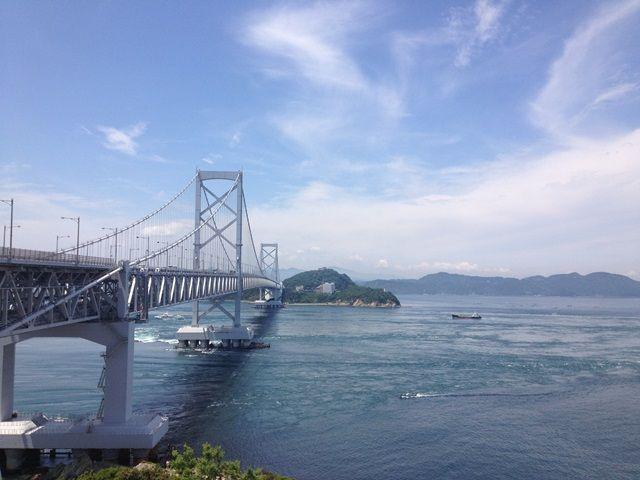 鳴門海峡大橋です!