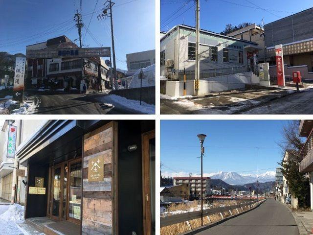 渋-湯田中温泉の雰囲気です!! 駅前には足湯やコンビニ、薬局もあります!!
