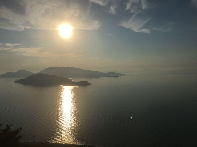 瀬戸内海に沈む夕日は抜群に綺麗です♪
