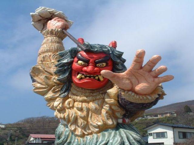 秋田と言えば「なまはげ」時期によって太鼓ライブなども開催してます。