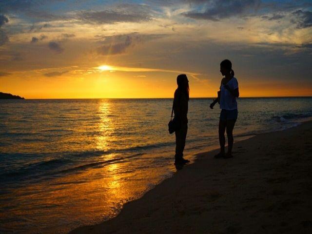 夕日をゆ〜たり眺める時間も贅沢な時間です♪