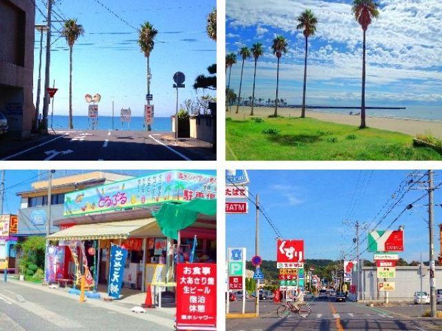 海まで徒歩圏内♪ 寮の周りにはコンビニ、スーパー、飲食店等あるので生活面も安心♪