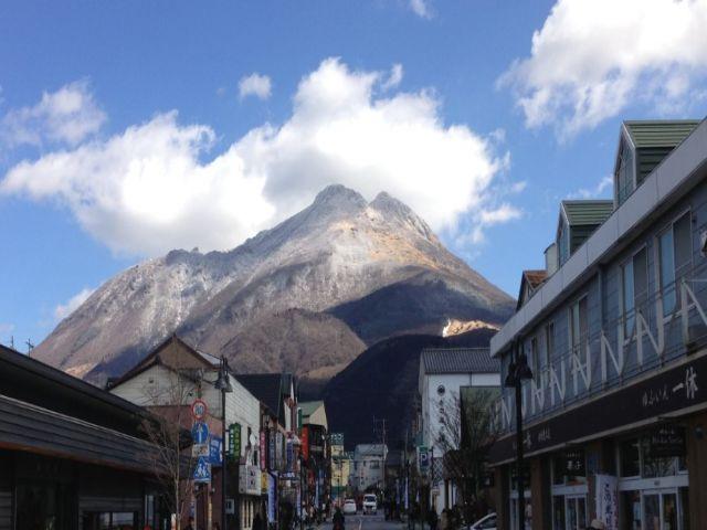 冬の由布岳も絶景☆四季が感じられる風景です!