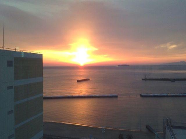 海が目の前のホテルです♪