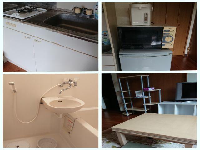 寮部屋内です。簡単な自炊であればできちゃいます!!※客室を使うケースもございます。