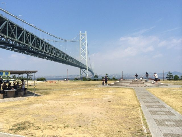 明石海峡大橋が目の前!!