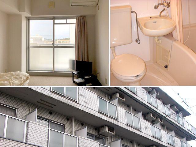 寮はトイレ風呂付の個室です。
