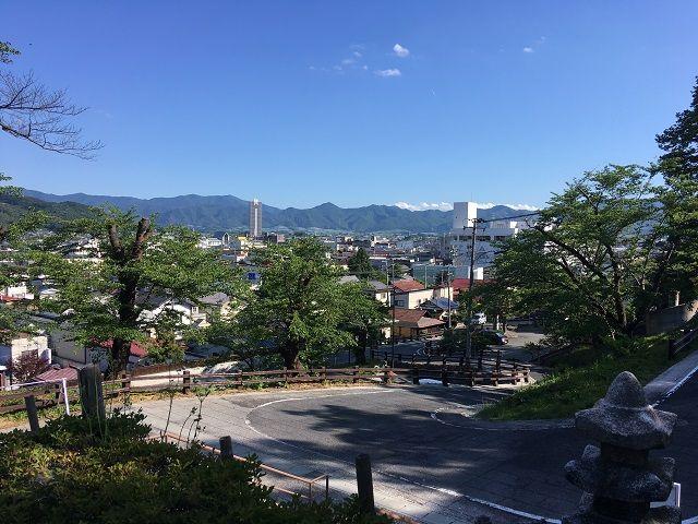 上山城からの眺めは最高〜☆☆