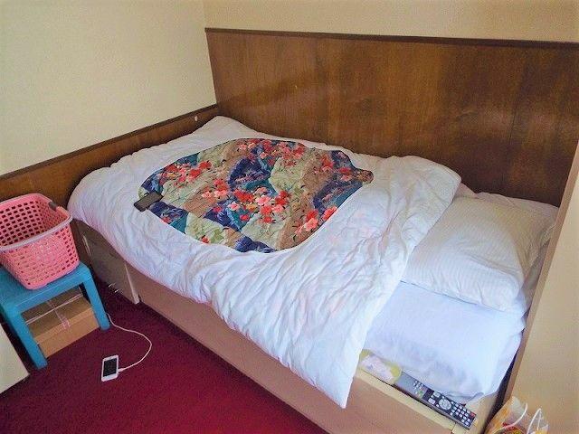 お部屋の中はキレイめなので快適です!! 赤い絨毯の1Rタイプのお部屋です♪