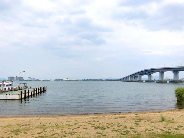 琵琶湖は日本一の大きさです。