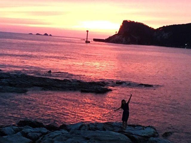 夕焼け!SUP、沖釣り、ダイビング、海水浴など海レジャーがいっぱい。