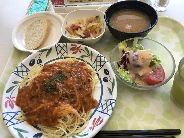 従業員食堂の食事です!毎日3種類から選べます!(^^)!