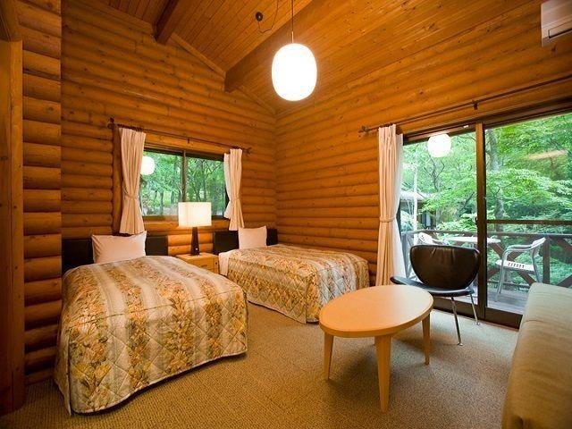 このような素敵なコテージにお客様が宿泊されます(*゚▽゚)ノ