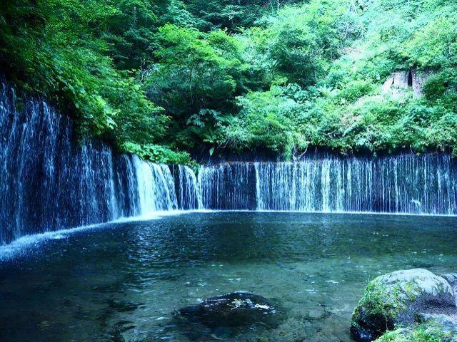 《人気観光地★軽井沢》白糸ノ滝にはマイナスイオンも溢れており身も心もリフレッシュ!!