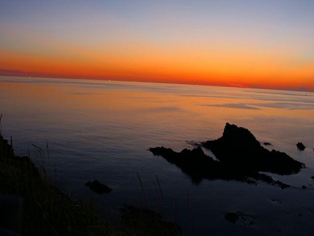 海に沈む夕日は幻想的で何度見てもGOOD☆