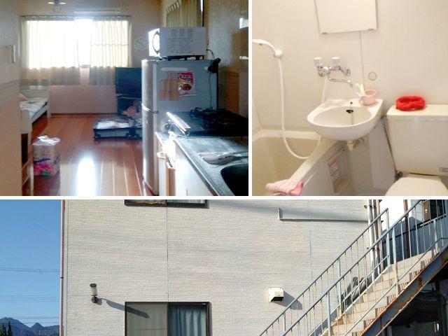 寮は完全個室でWifi利用も可能。