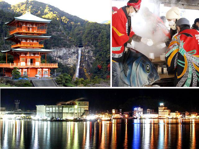 勝浦港はマグロの水揚げ量が多くて有名です。